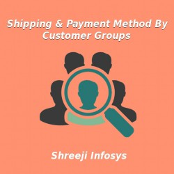 Shipping and Payment Method By Customer Groups Magento2