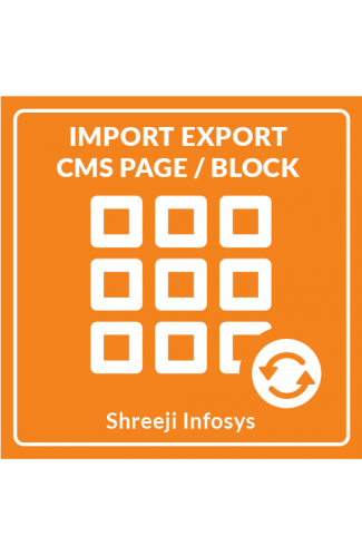 Import Export CMS Page/Block Magento 2