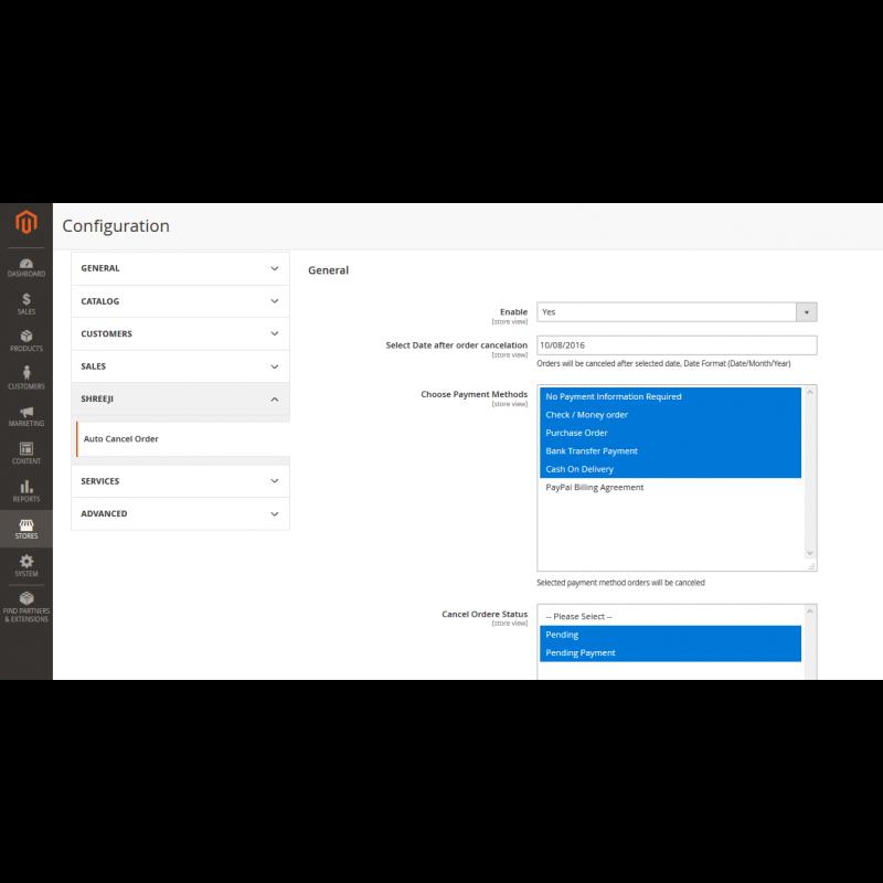 Auto Cancel Order Magento2 Configuration