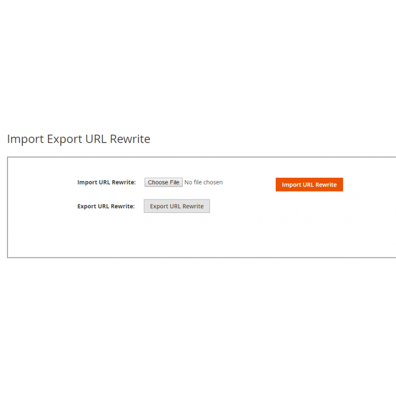 Import Export URL Rewrite Page