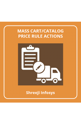Mass Cart/Catalog Price Rule Actions Magento 2