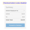 Checkout button validation