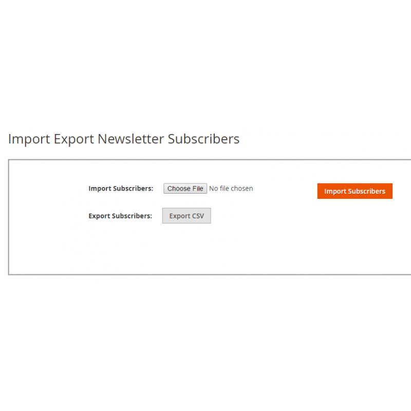 Import Export Newsletter Subscriber Page