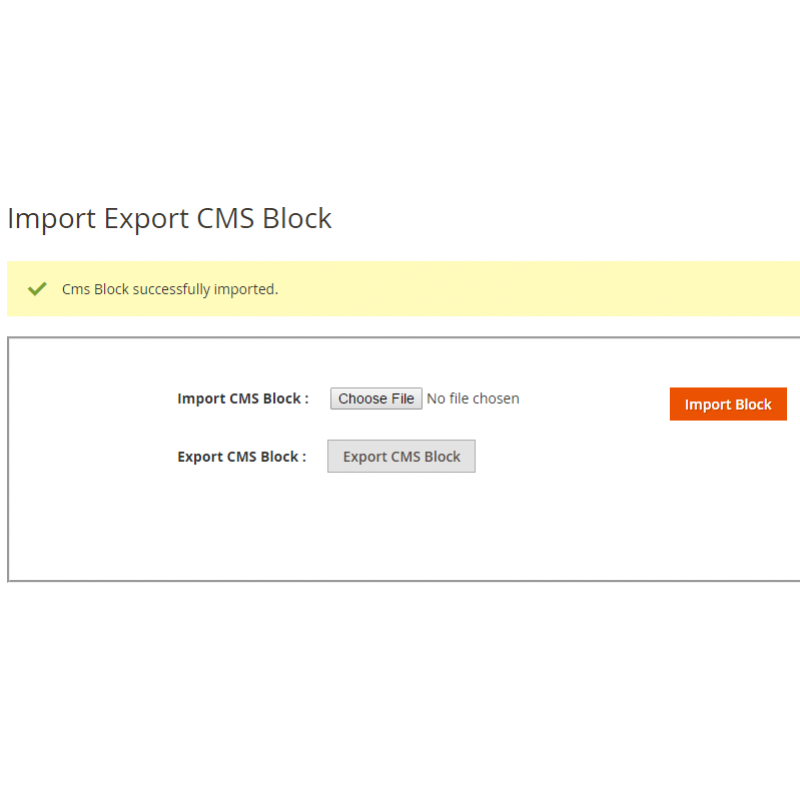Import CMS Page Success
