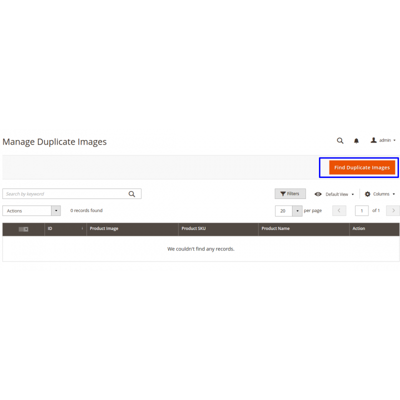 Manage Duplicate Image Section